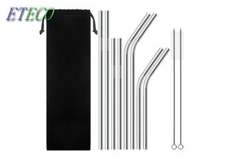 Birthday Party Stainless Steel Reusable Straws Cold Beverage Drinking