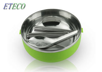 3 Layers Stainless Steel Bento Box Ergonomic Silicone Sealing Ring Heatproof