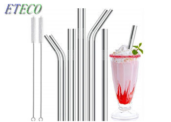 Silver Reusable Stainless Straw For Cocktail Sipping Bars Summer Cool Drinking