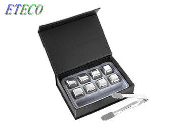 Gift Set Stainless Steel Ice Cubes With Tongs Food Grade Bpa Free