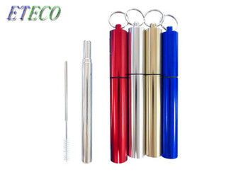 Food Grade Collapsible Stainless Steel Straw Juice Drinking